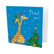 Pack of 10 Quentin Blake Christmas Thank You Cards - Giraffes